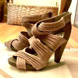 """Grey / taupe suede Seychelles 4"""" stiletto heels"""